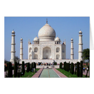 Historic Taj Mahal, Agra, India Card