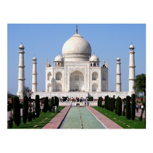 Historic Taj Mahal, Agra, India Postcards