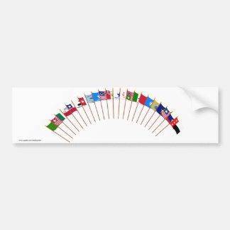 Historic Texas Flags Bumper Sticker
