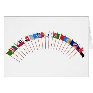 Historic Texas Flags Greeting Card