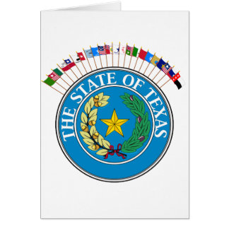 Historic Texas Flags with Seal Greeting Card