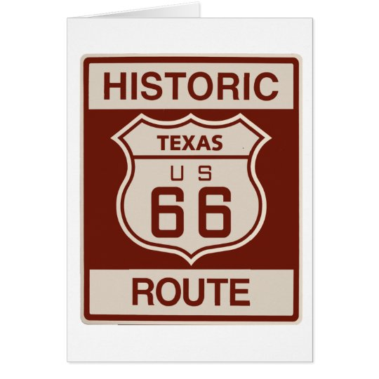 Historic Texas RT 66 Card