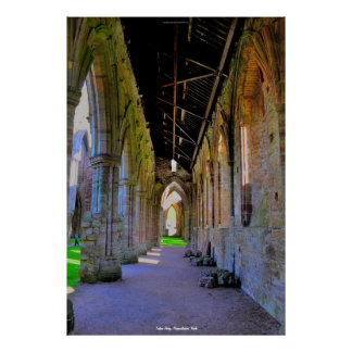 Historic Tintern Abbey Cistercian Cloisters, Wales Poster