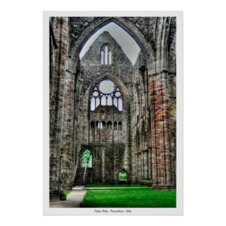 Historic Tintern Abbey Cistercian Monastery Wales Poster