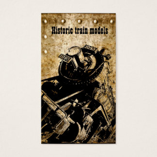historic train models collector/store business card