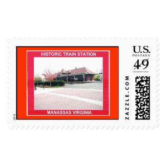 HISTORIC TRAIN STATION STAMP