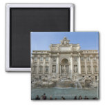 Historic Trevi Fountain in Rome, Italy 2 Inch Square Magnet