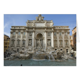 Historic Trevi Fountain in Rome, Italy Greeting Card