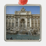 Historic Trevi Fountain in Rome, Italy Square Metal Christmas Ornament
