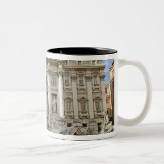 Historic Trevi Fountain in Rome, Italy Two-Tone Coffee Mug