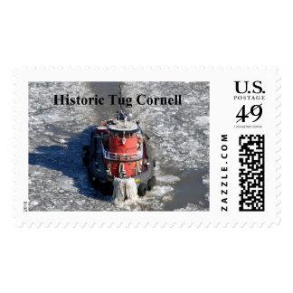 Historic Tug Cornell Postage Stamp