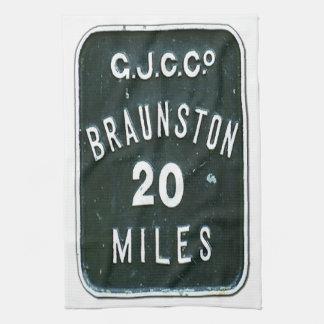 Historic UK Inland Waterways Canal Braunston Sign Kitchen Towel
