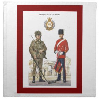 Historic Uniforms, Corps of Royal Engineers Cloth Napkin