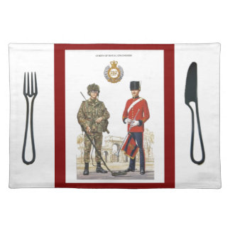 Historic Uniforms, Corps of Royal Engineers Cloth Placemat