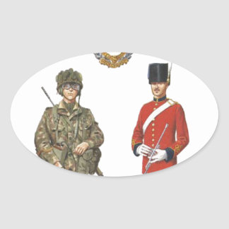 Historic Uniforms, Corps of Royal Engineers Oval Sticker