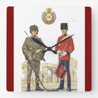 Historic Uniforms, Corps of Royal Engineers Square Wall Clock