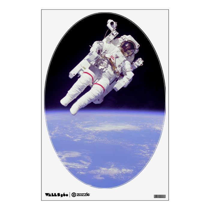 Historic Untethered Space Walk Wall Decal