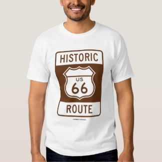 Historic US 66 Route (Transportation Sign) Shirt