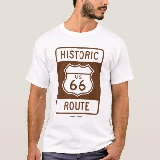 Historic US 66 Route (Transportation Sign) T-Shirt