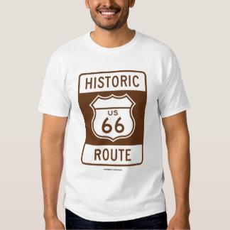 Historic US 66 Route (Transportation Sign) Tshirt