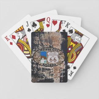 Historic US Route 66 ~ Meteor City, Arizona Card Decks