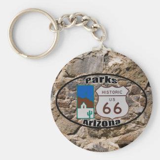 Historic US Route 66~Parks, Arizona Keychain
