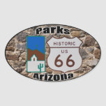 Historic US Route 66 Parks Arizona Oval Sticker