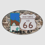 Historic US Route 66 Parks Arizona Ver. 2 Oval Sticker