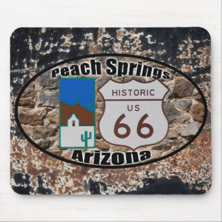 Historic US Route 66 Peach Springs, Arizona Mouse Pad