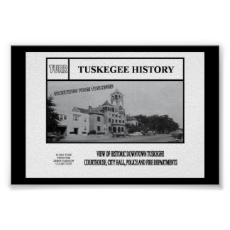 HISTORIC VIEW OF DOWNTOWN TUSKEGEE PRINT