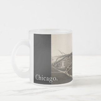 Historic view OF Grant park, Chicago (around 1880) 10 Oz Frosted Glass Coffee Mug