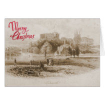 Historic view of Tamworth Castle Christmas Card