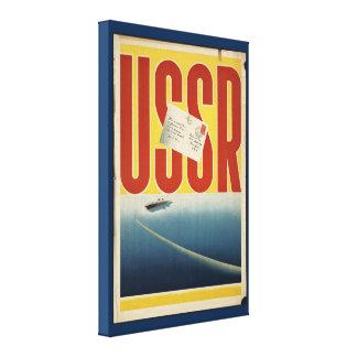 Historic Vintage USSR Travel Poster Canvas Print