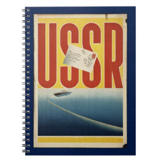 Historic Vintage USSR Travel Poster Spiral Note Books