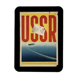 Historic Vintage USSR Travel Poster Rectangular Photo Magnet