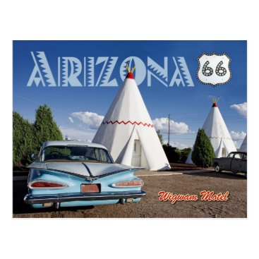 HTMimages Historic Wigwam Motel, Route 66, Arizona Postcard
