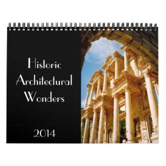 historic wonders 2014 wall calendars