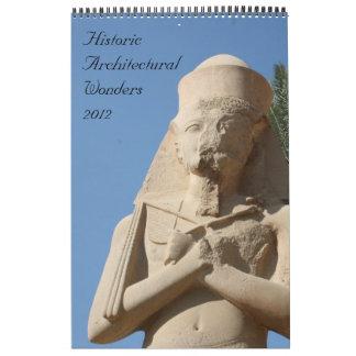 historic wonders calendar 2012