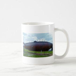 Historic wooden submarine replica. coffee mug