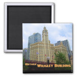 Historic Wrigley Building  - Chicago Illinois 2 Inch Square Magnet