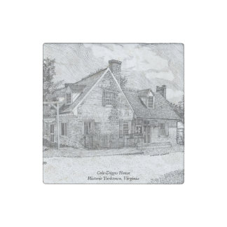 Historic Yorktown VA - Cole-Digges House Stone Magnet