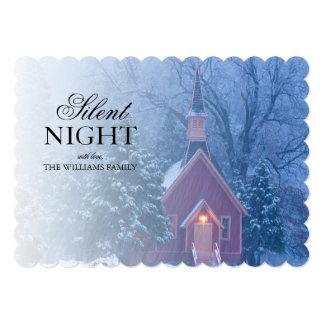 Historic Yosemite Valley Chapel - heavy snowfall Card