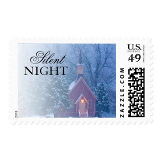 Historic Yosemite Valley Chapel - heavy snowfall Postage Stamp