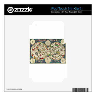Historic Zodiac Map, 1670 Decal For iPod Touch 4G
