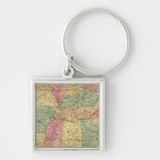 Historical and Military Map of the US Key Chain