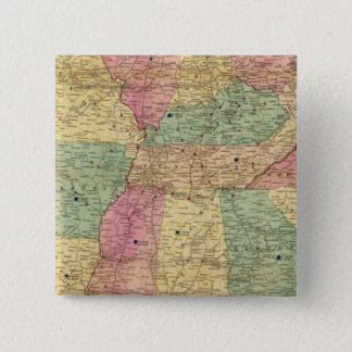Historical and Military Map of the US Pinback Button