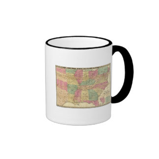 Historical and Military Map of the US Ringer Mug