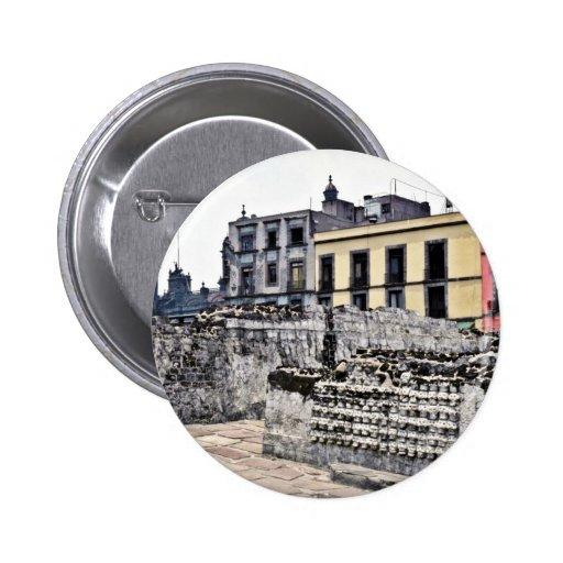 Historical Architectural Scene Pins