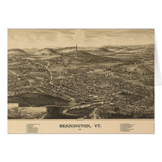 Historical Bennington, Vermont Map Card
