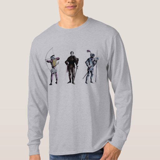 Historical Britain England 15th Century Knights T-shirts